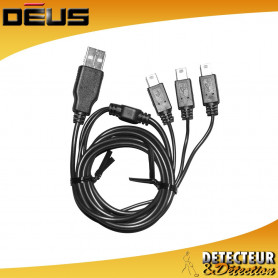 Câble de charge USB 3 sorties XP DEUS