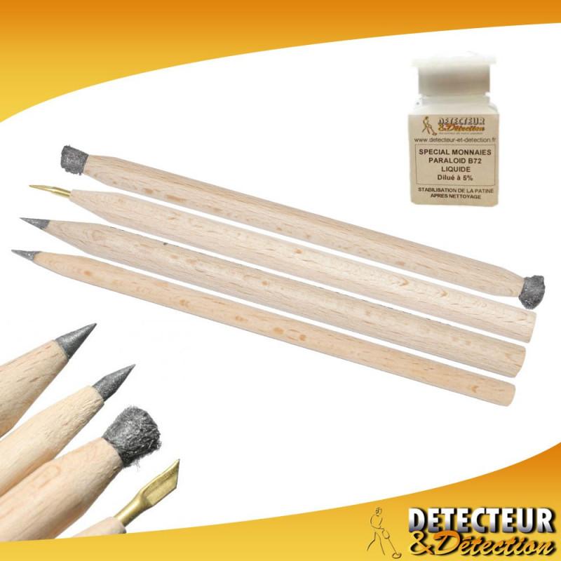 Kit Set 4 crayons + Paraloïd B72