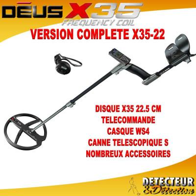 detecteur XP DEUS complet X35
