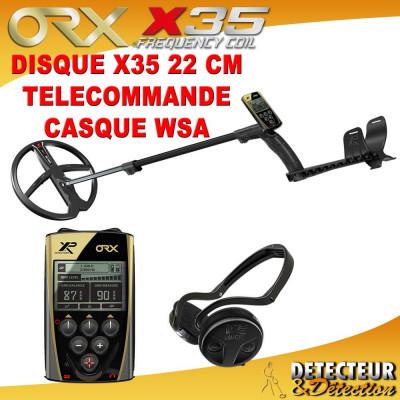detecteur de metaux ORX avec casque WSA et disque X35 22cm