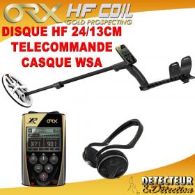 detecteur de metaux ORX avec disque elliptique HF et casque WSA