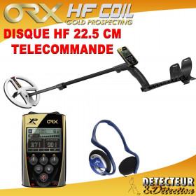 detecteur de metaux ORX avec disque HF 22.5 cm
