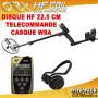 detecteur de metaux ORX avec disque HF 22.5 cm et casque WSA et casque WSA