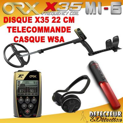 detecteur orx casque sans fil pinpointer mi-6