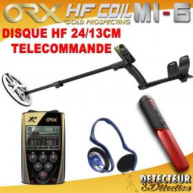 detecteur de metaux ORX avec disque elliptique HF 24/13 + MI6