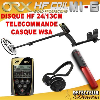 detecteur de metaux ORX avec disque elliptique HF et mi6 XP