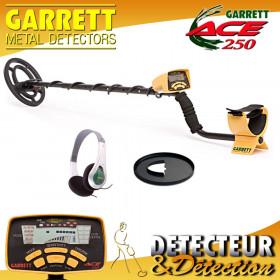 PACK Garrett ACE 250 + Protège-disque + Casque