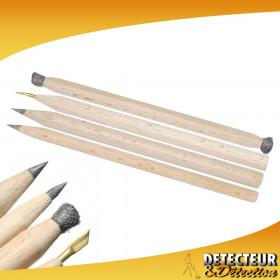 """Set 4 crayons grattoirs """"Le Crayon à André"""""""