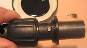 Fixation molette blocage canne