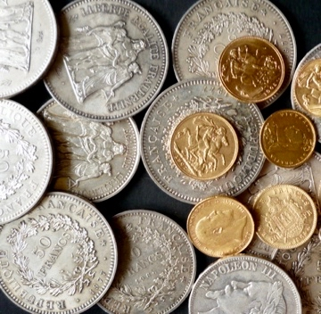monnaie or argent trésor