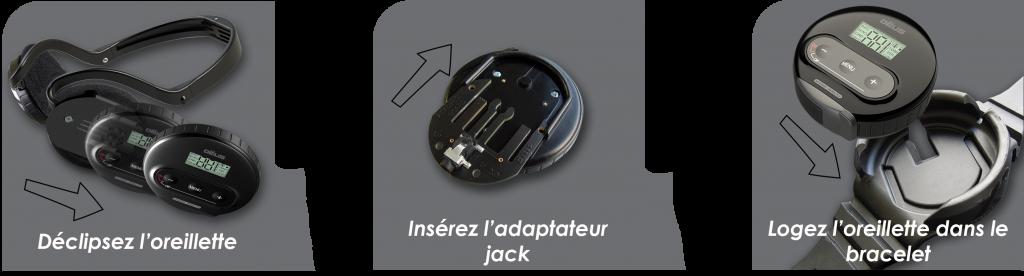 Bracelet pour casque WS4 du XP DEUS